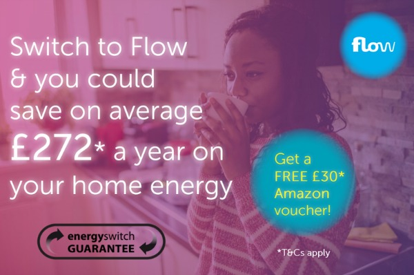 Switch your home energy and receive a £30 Amazon voucher