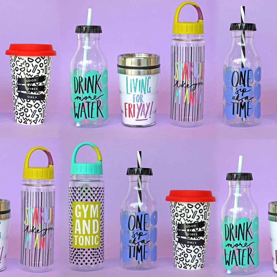 7. Buy a water bottle and a travel mug